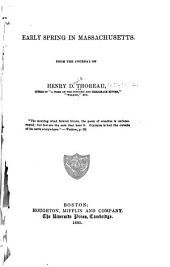 Early Spring in Massachusetts: From the Journal of Henry D. Thoreau