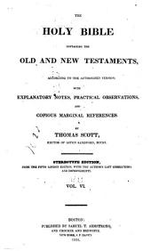 The Holy Bible, Containing the Old and New Testaments: Volume 6