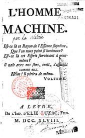 L' Homme machine... (par La Mettrie)