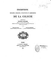 Inscriptions grecques, romaines, byzantines et arméniennes de la Cilicie