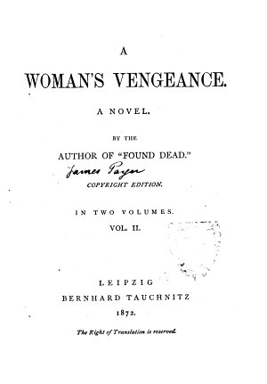 A Woman  S Vengeance a Novel PDF