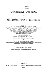 Quarterly Journal of Microscopical Science: Volume 40