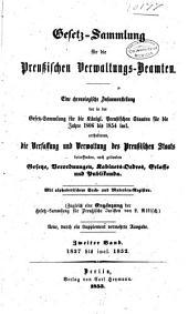 Gesetz-sammlung für die preussischen verwaltungs-beamten: Eine chronologische zusammenstellung ... für die jahre 1806 bis 1854 incl...