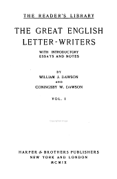 The Great English Letter-writers: Volume 1
