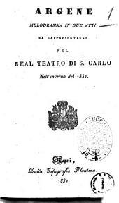 Argene melodramma in due atti [il dramma è del sig. Rosario Barresi