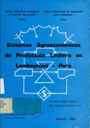 Sistemas Agreoconomicos de Produccio n Lechera a Lambayque   Peru  PDF