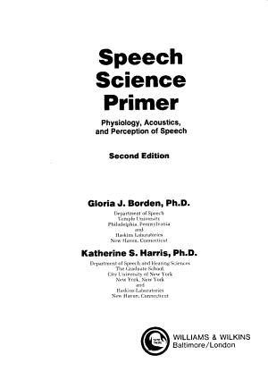 Speech Science Primer PDF