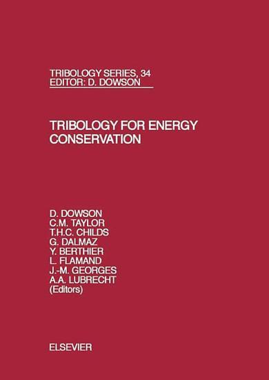 Tribology for Energy Conservation PDF