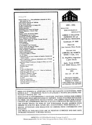 Bolet  n bibliogr  fico mexicano PDF