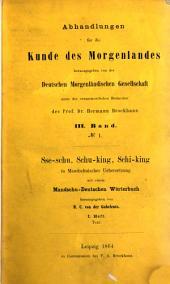 Abhandlungen für die Kunde des Morgenlandes: Band 3