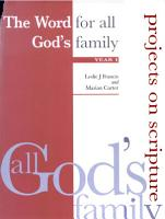 The Word for All God s Family PDF