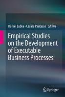 Empirical Studies on the Development of Executable Business Processes PDF