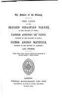 The Lives of the Blessed Sebastian Valfr    of the Oratory of Turin PDF