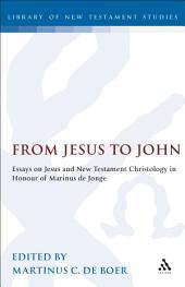 From Jesus to John: Essays on Jesus and New Testament Christology in Honour of Marinus de Jonge