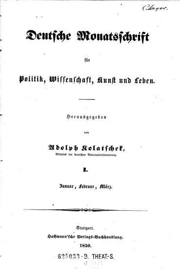 Deutsche Monatsschrift f  r Politik  Wissenschaft  Kunst und Leben PDF