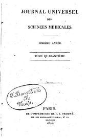 Journal universel des sciences médicales: Volume40