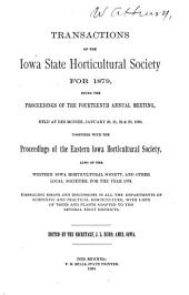 Transactions of the Iowa State Horticultural Society for ...: Volume 14