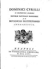 Ad botanicas institutiones introductio