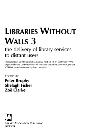Libraries Without Walls 3 PDF