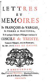 Lettres et mémoires sur le concile de Trente