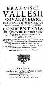 Commentaria in Hippocratis lib. de ratione victus in morbis acutis