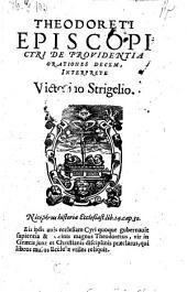 De providentia orationes decem, interprete victorino Strigelio