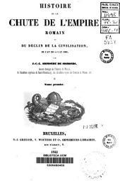 Histoire de la chute de l'Empire Romain et du déclin de la civilisation