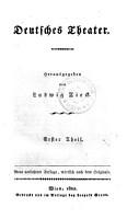 Deutsches Theater  Herausgegeben von Ludwig Tieck PDF