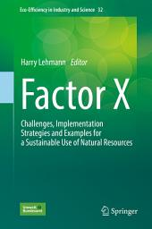 Factor X: Challenges, Implementation Strategies and Examples for a Sustainable Use of Natural Resources