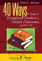 40 Ways to Support Struggling Readers in Content Classrooms  Grades 6 12 PDF