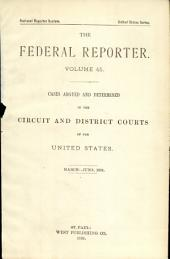 The Federal Reporter: Volume 45