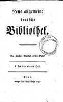 Neue allgemeine deutsche Biblothek PDF