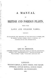 A Manual of British and Foreign Plants
