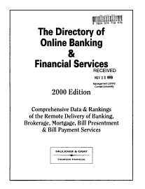 The Directory Of Online Banking Financial Services