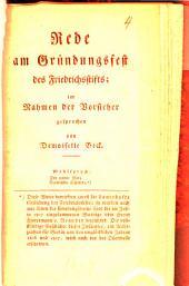 Rede am Gründungsfest des Friedrichsstifts
