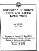 Bibliography of Business Ethics and Business Moral Values PDF