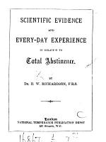 Scientific Evidence and Every day Experience in Relation to Total Abstinence PDF