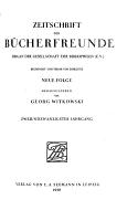 Zeitschrift f  r B  cherfreunde PDF