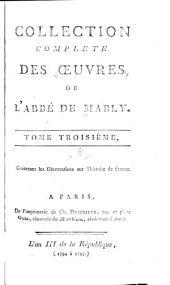 Collection complète des œuvres de l'abbé de Mably: Volume3