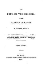 The Book of the Seasons  Or  The Calendar of Nature Book