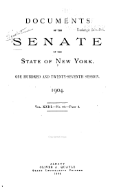 Documents of the Senate of the State of New York: Volume 23