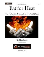 Eat for Heat  The Metabolic Approach to Food and Drink PDF