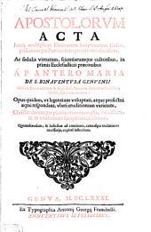 Apostolorum Aila ... elucidata