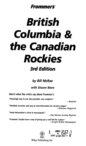 Frommer s British Columbia   the Canadian Rockies PDF