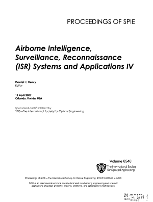 Airborne Intelligence  Surveillance  Reconnaissance  ISR  Systems and Applications PDF