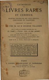 Veilingcatalogus, boeken Eugène Villemin, 7 februari e.v. 1870
