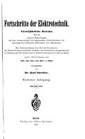 Fortschritte der Elektrotechnik PDF