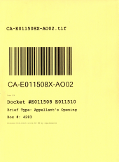 California. Court of Appeal (4th Appellate District). Division 2. Records and Briefs: E011508, Appellant's Opening, 02