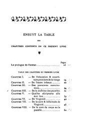Livre de l'Institution de la femme chrestienne tant en son enfance que mariage et viduité, aussi de l'office du mary