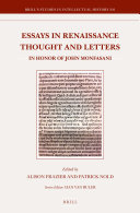 Essays in Renaissance Thought and Letters